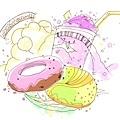 初夏的甜甜圈