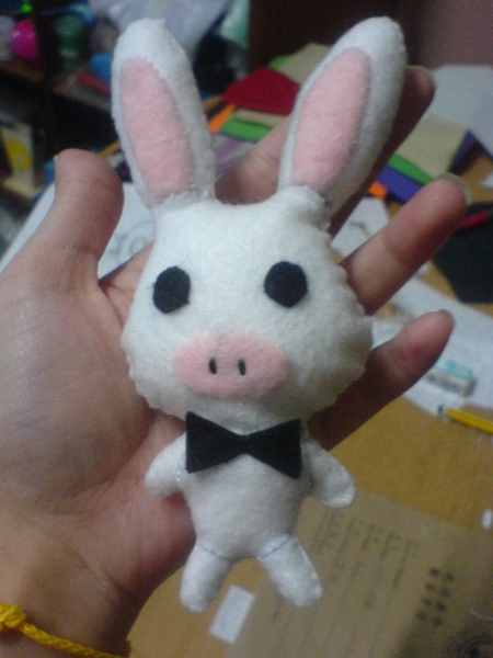 不织布兔子猪