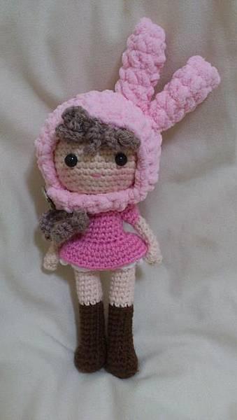 粉紅兔帽女孩