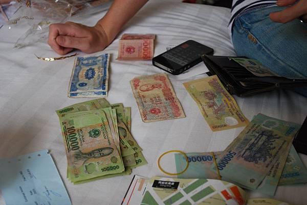 我說實在的越南的錢真的很難算!!!!