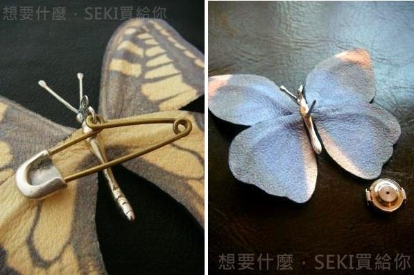 蝴蝶胸針背面兩款