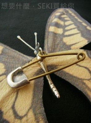 蝴蝶胸針背面