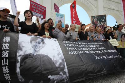 聲援袈裟革命 '07-9-28記者會