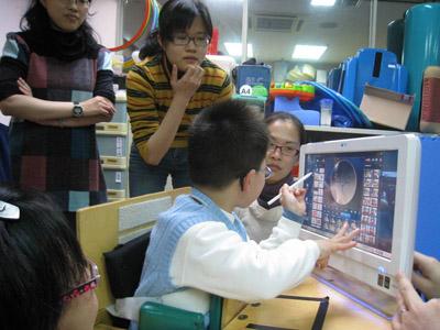 觸控式電腦語言教學
