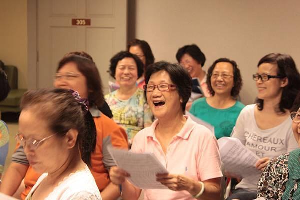 媽媽合唱團平日練習情形