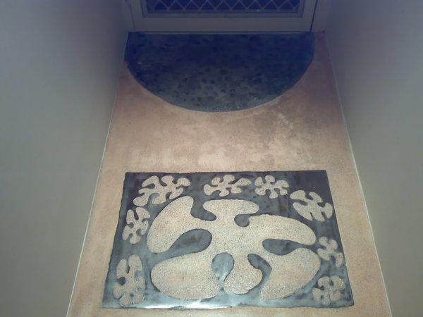 入門口的地板造景