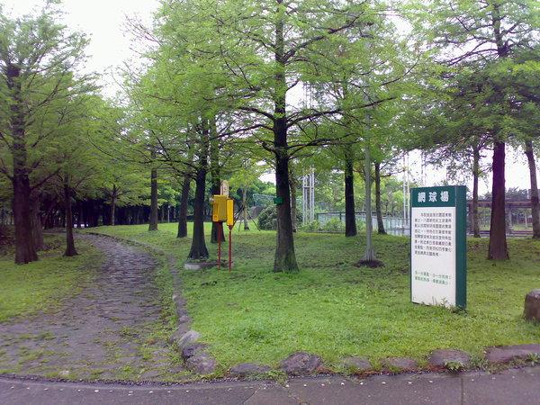 羅東運動公園的林蔭綠地
