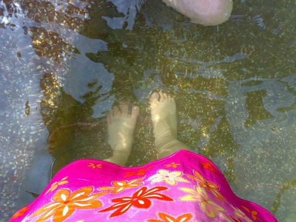 冷泉的水......嗯......有冷...(好冷的標題 = = )