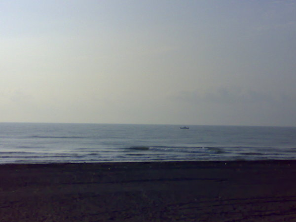 清晨的海邊