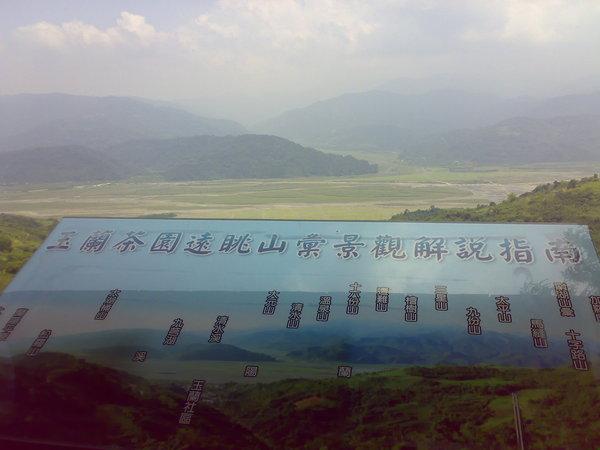 觀景台裡的景觀說明板