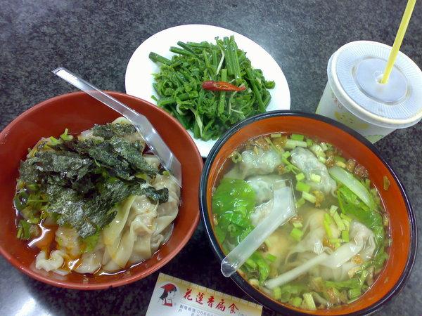 可惡的梧堤颱風讓我們只能在民宿附近吃扁食跟抄手