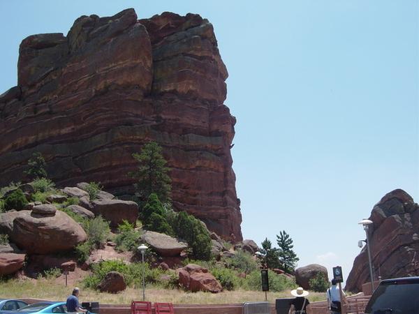 著名的Red Rocks劇院