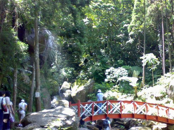 小橋和小瀑布