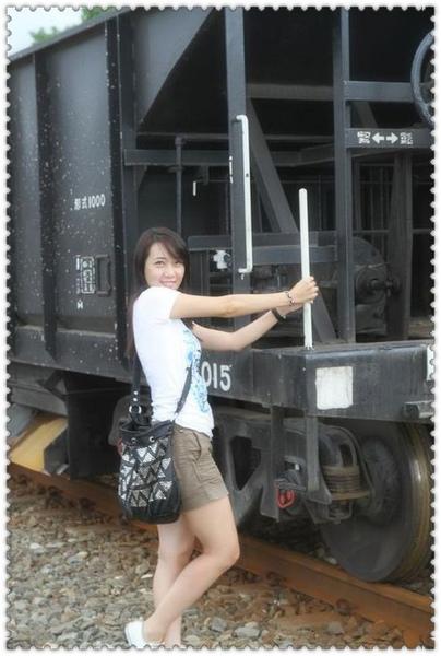 和火車留影