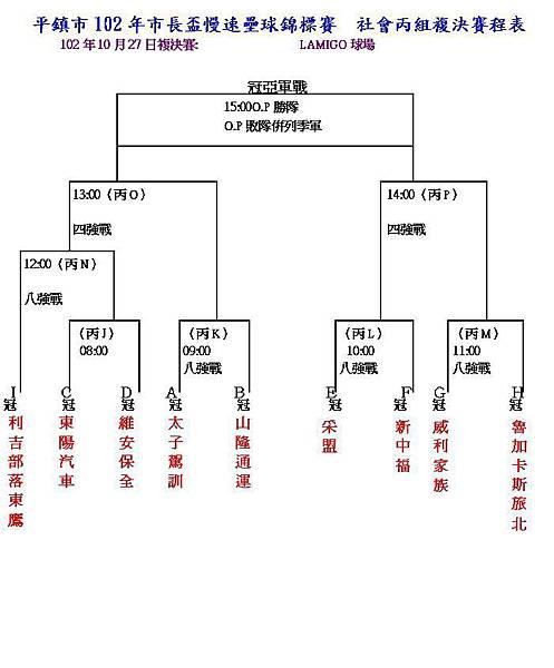 社丙複決賽程表1020