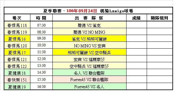 106夏季聯賽第三週桃猿球場賽程表(0924).jpg