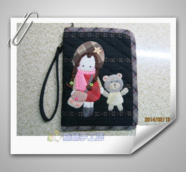女孩與小熊手機袋6