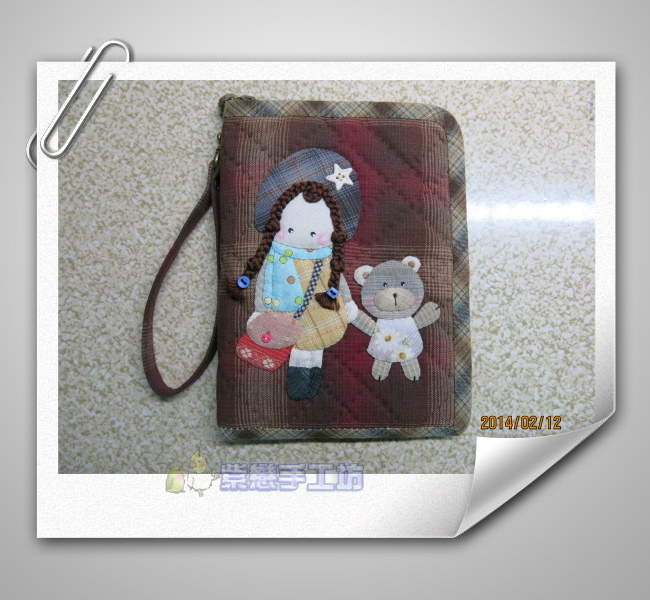 女孩與小熊手機袋4