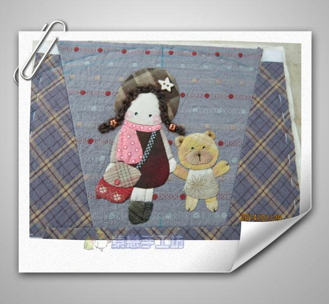 女孩與小熊手機袋1