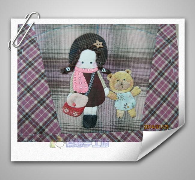 女孩與小熊手機袋