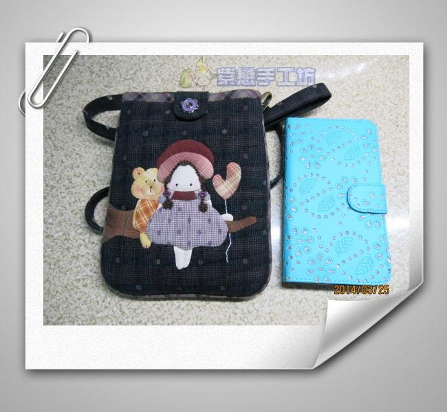 我的寵物日記-女孩與小熊~手機袋黑1.jpg