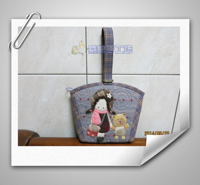 我的寵物日記~可愛的娃娃手拿包紫色1