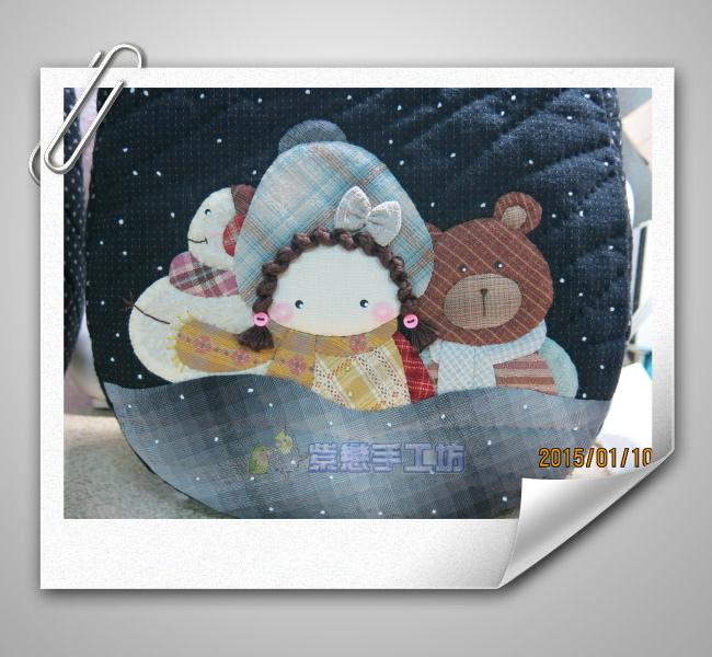 雪人.小熊.娃娃-加大手提包1