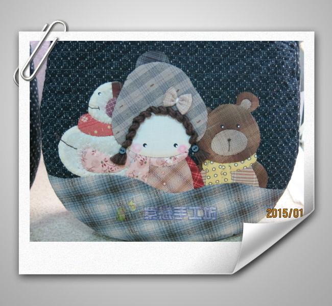 雪人.小熊.娃娃-加大手提包
