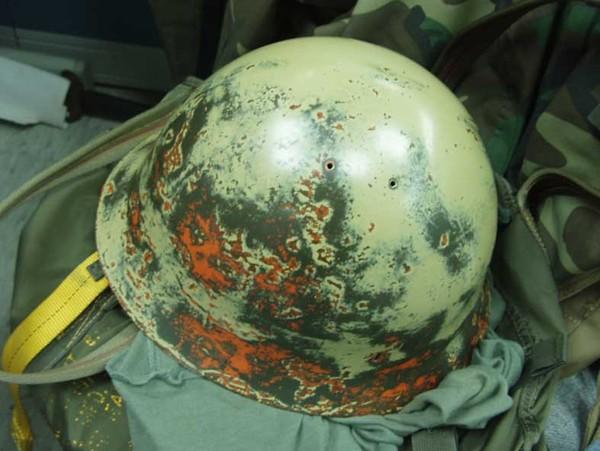 日軍鐵帽翻修過程-1