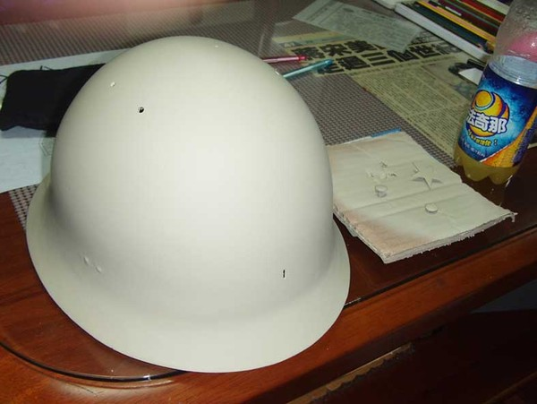 日軍鐵帽翻修過程-5