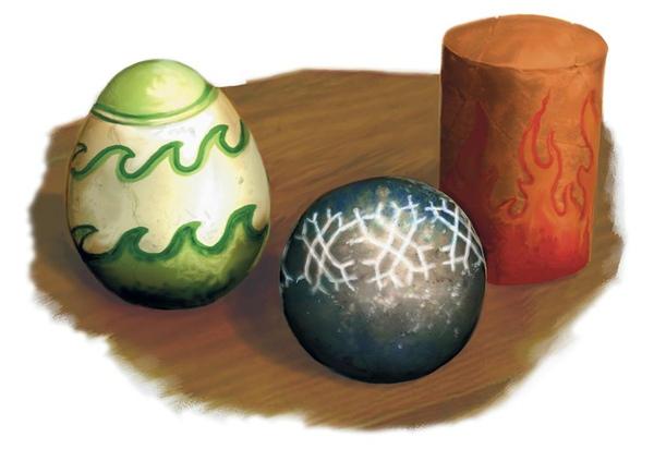 很神奇的魔法物品,看起來跟彩蛋一樣呢!