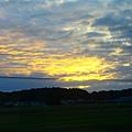 成田特快上的夕陽
