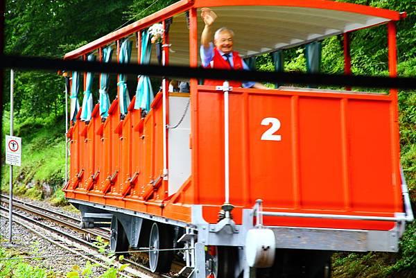 Historic Grandhotel Giessbach的登山電車