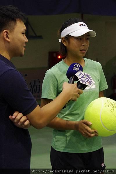 結束後也有採訪台灣的選手