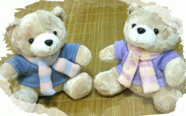 圍巾情侶毛衣熊100(已售出)