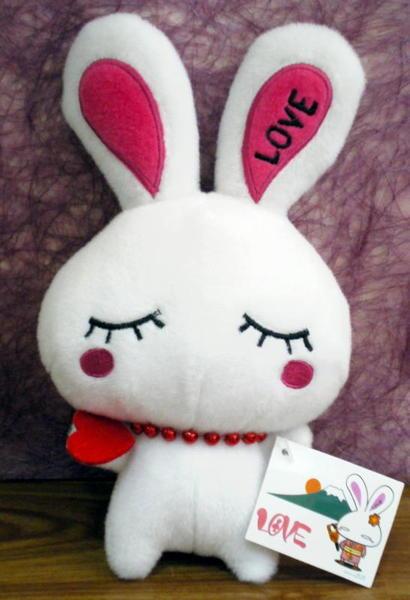 白色款愛心Love兔~ 120