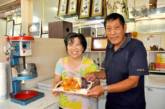 20110815-烈嶼洪木盛夫婦招牌芋泥冰抓住饕客的胃