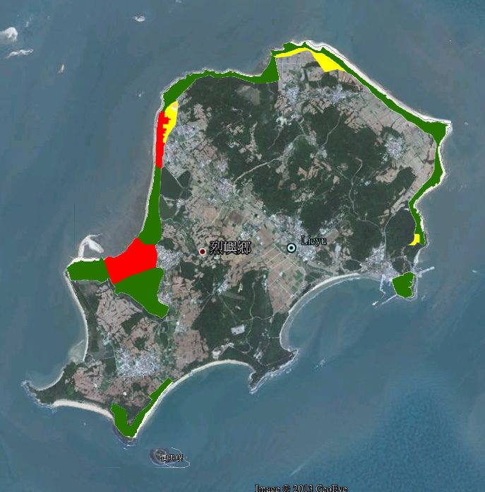 國家公園烈嶼分區圖