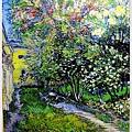 The Garden of the Asylumat Saint-Remy  1890聖雷米療養院的花園