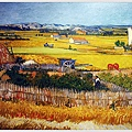 The harvest(wheat fields)  1888普羅旺斯秋收