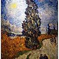 Country Road in Provence by Night  1890普羅旺斯夜間的鄉村路(別名: 有柏樹的星夜路)