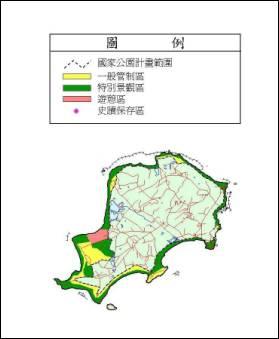 金門國家公園烈嶼區範圍