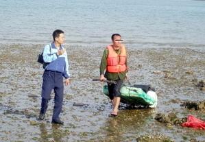 20110520-陸籍人士為求自由泳渡小金門 遭海巡查獲