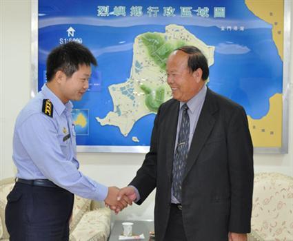 20101118-烈嶼子弟李水平接掌九宮安檢所