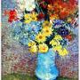 Flowers in a Blue Vase  1887藍色瓶花