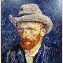 Self-portrait with grey felt hat 1887-1888  戴灰氈帽的自畫像