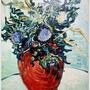 Flower Vase with Thistles  1890薊花