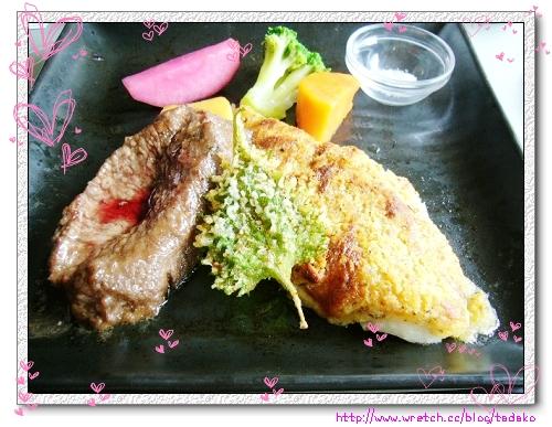 陶板海陸(豚魚)