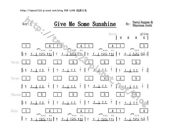 Suraj Jaggan & Sharman Joshi-Give Me Some Shine 吉他譜.jpg