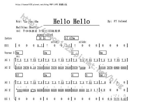 FT Island-Hello Hello 吉他譜.jpg